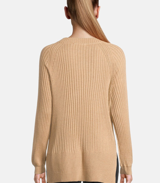 Lange trui met ribstructuur