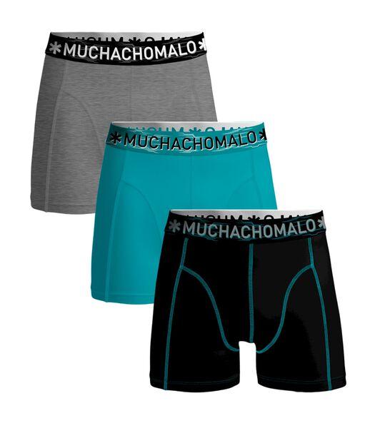 Heren 3-pack boxershorts - Solid