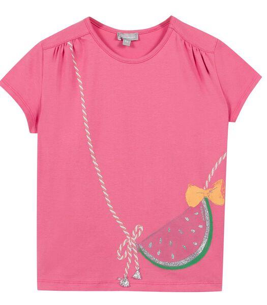 T-shirt met korte mouwen en tasprint