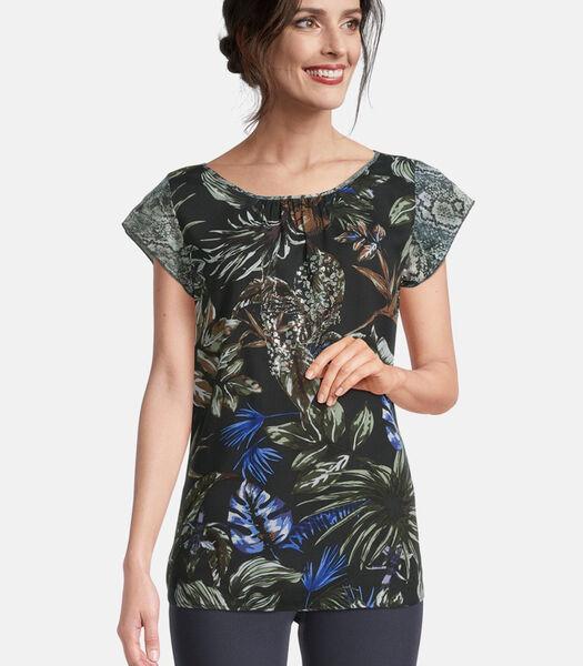Shirt in blousestijl met print