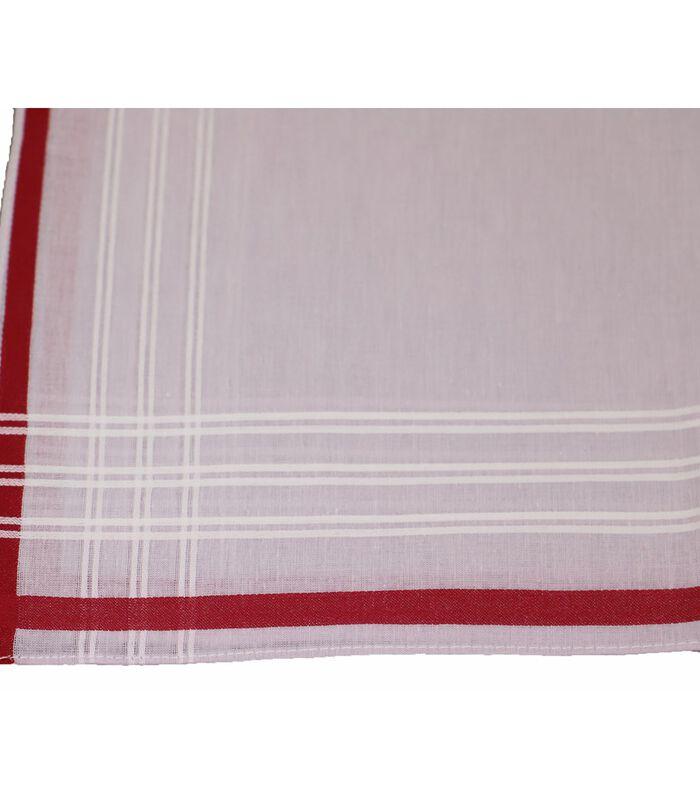 Set van 6 katoenen zakdoeken ROMAIN image number 3