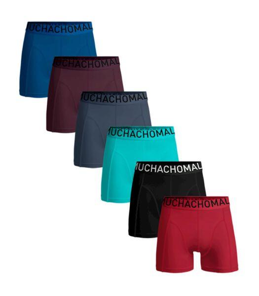 Heren 6-pack - boxershorts Effen