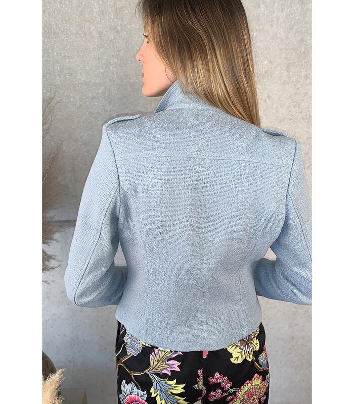 Mooi gecentreerd lichtblauw jasje image number 1