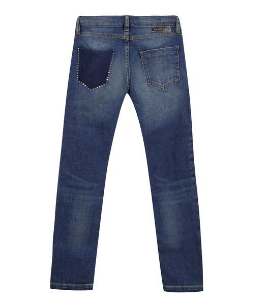 Slim Jeans met glitter achterzak