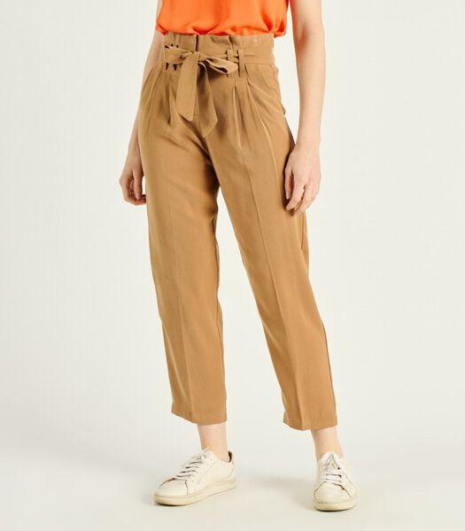 CAMILA chino broek met hoge taille