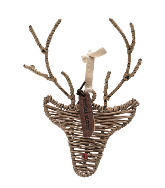 Rustic Rattan Rudolph Ornament