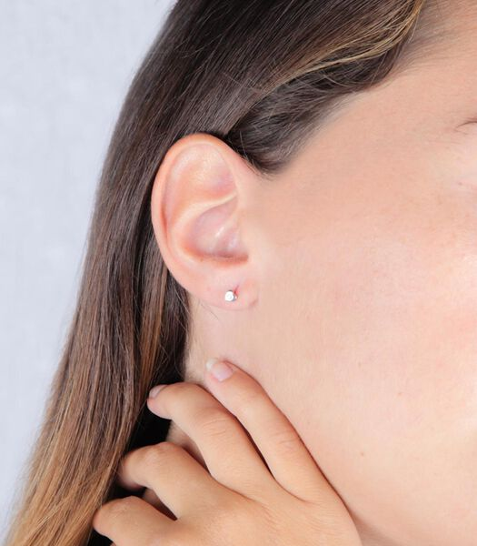 B-BABY Boucles d'oreilles Or Blanc 375