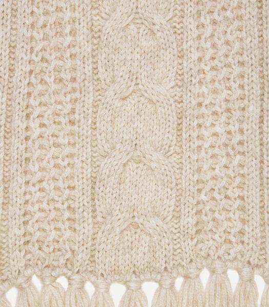 Gebreide sjaal met kabelpatroon