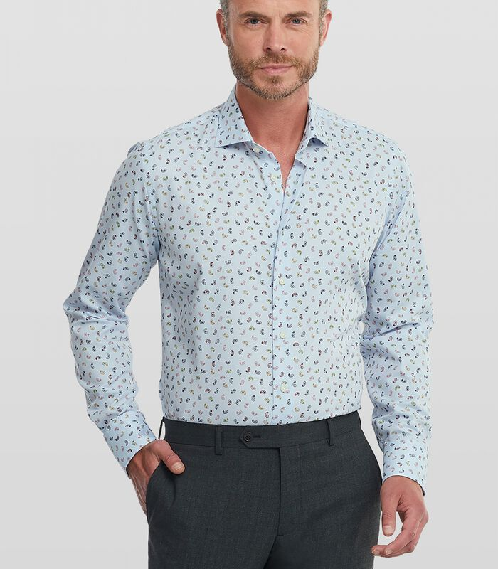 Twill overhemd met paisley print image number 0