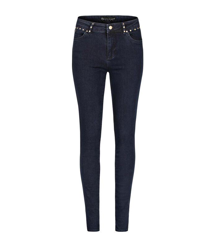 Ruwe jeans met zakken met studs ZOOM image number 0