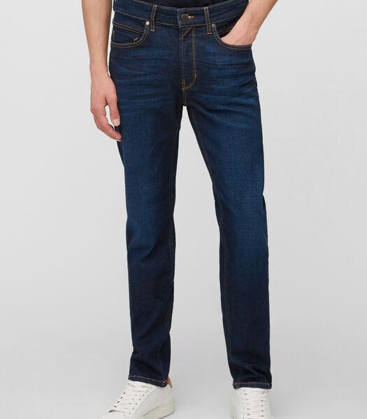 Jeans model VIDAR slim met crinkle-effect