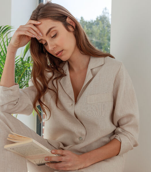 Pyjamajasje zuiver Frans linnen, VICTORIA