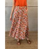 Elegante enkellange rok met felle bloemenprint image number 0