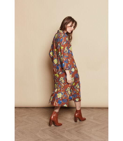 Losvallende jurk met kleurrijke bloemenprint
