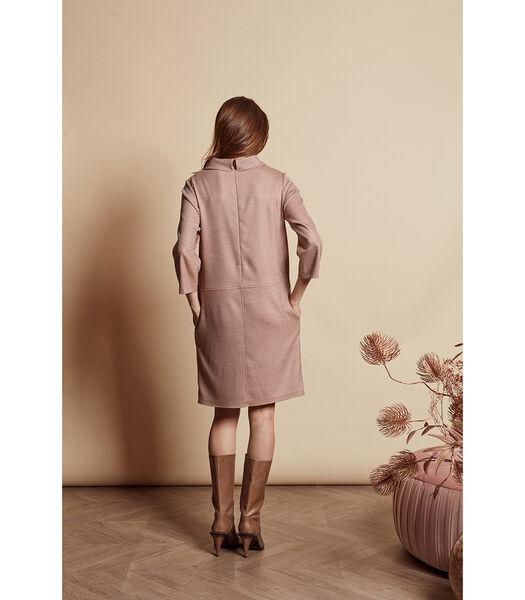 Tuniek jurk met fijn pied-de-poule motief