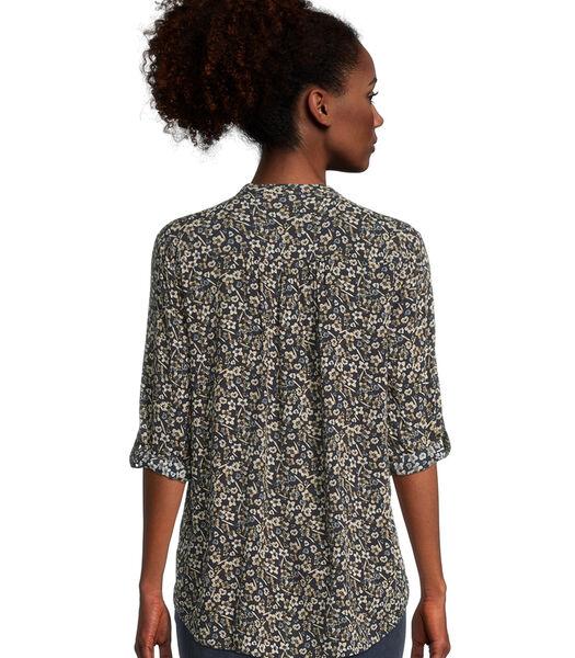 Casual blouse met 3/4-mouwen