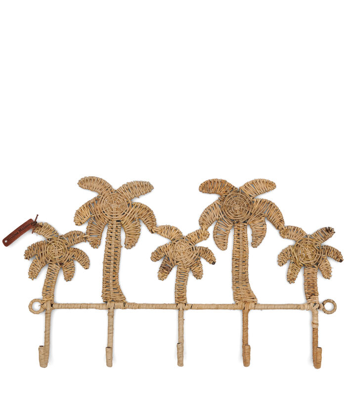 Rustic Rattan Pretty Palm Coat Rack image number 0