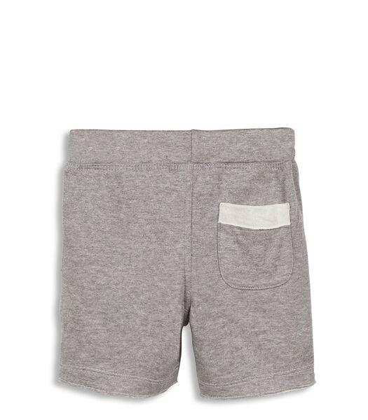 Fleece Shorts Met Elastische Broekriem