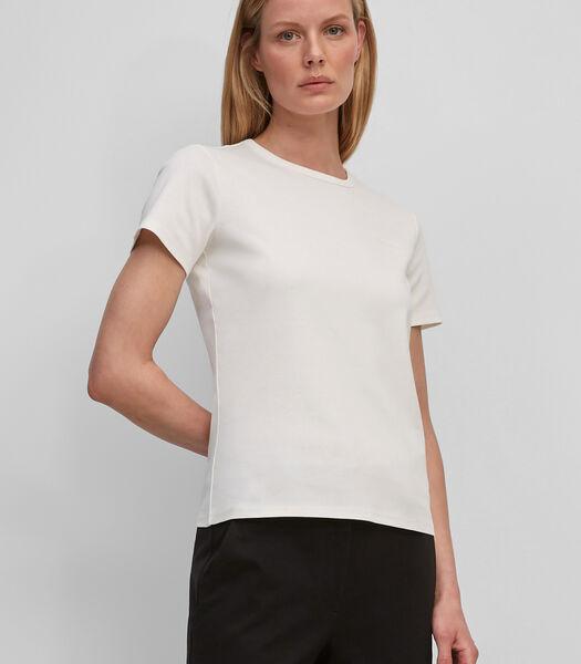 T-shirt van geribde jersey met een gemiddeld gewicht