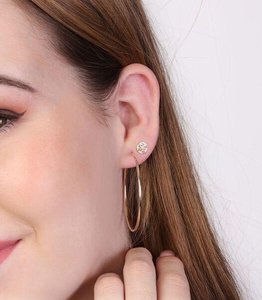 Boucles d'oreilles en or jaune 14 carats 45mm