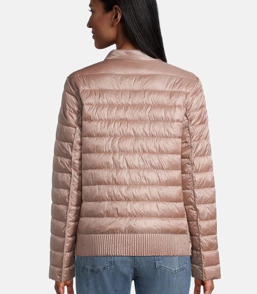 Gewatteerde jas met opstaande kraag