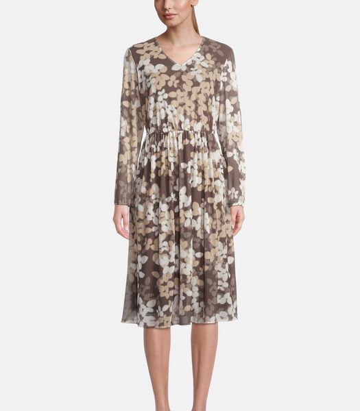 Casual jurk met bloemenprint