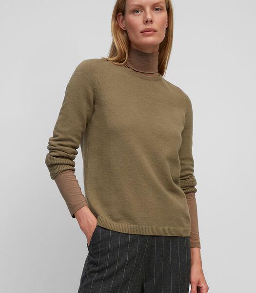 Trui met ronde hals van responsible wool