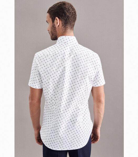 Oxfordhemd Slim Fit Korte mouwen Print