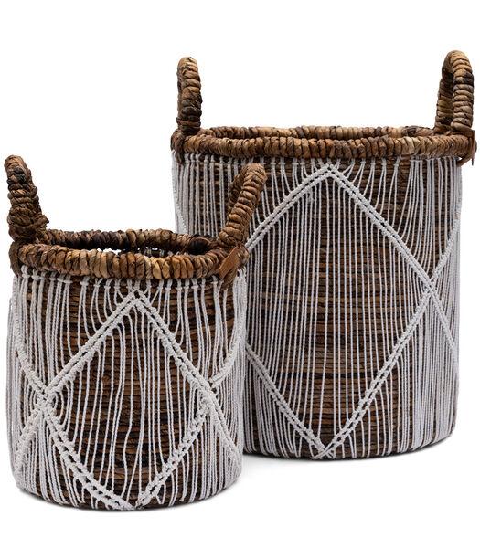 Bohemian Chic Basket Set Of 2 pcs