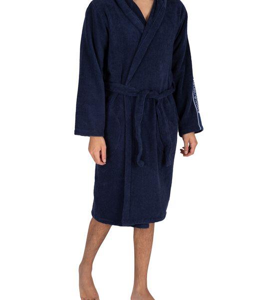 Actieve geweven badjas met capuchon