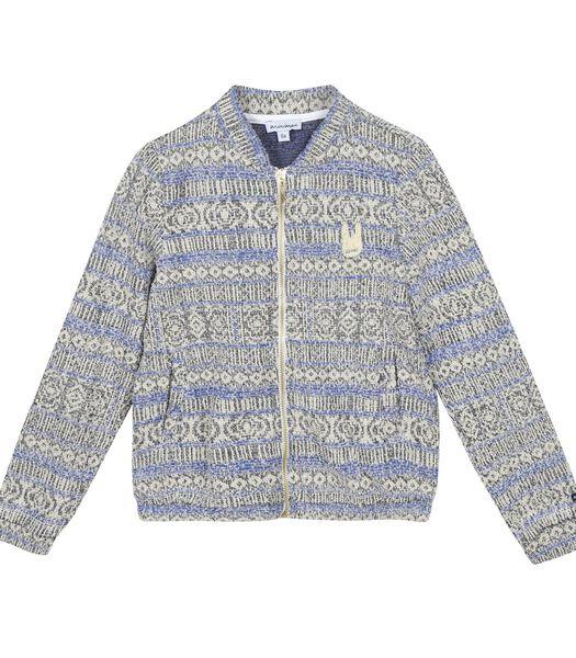 Sweatshirt met rits