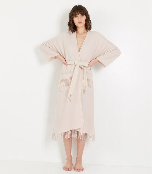 Homewear lange poncho wol