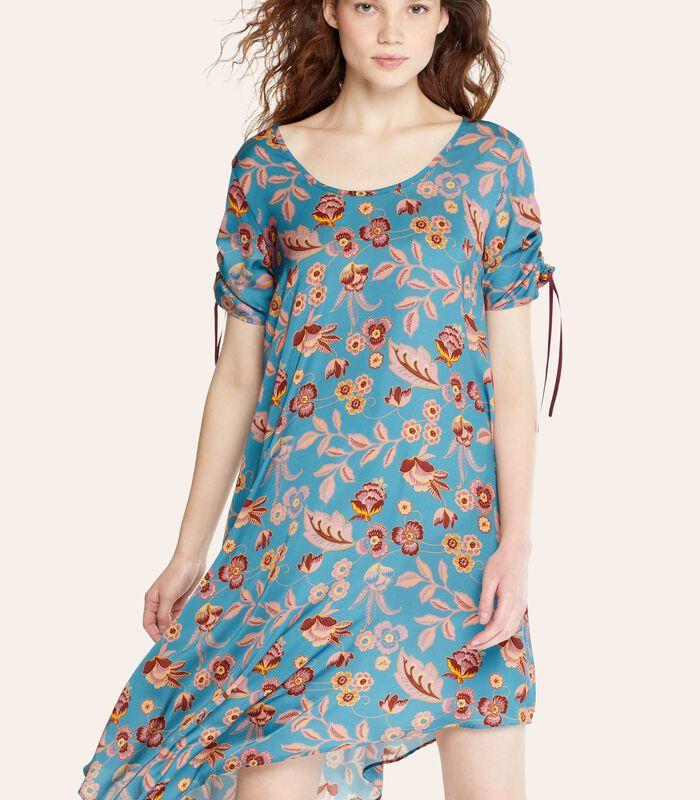 Asymmetrische jurk ROSAFA met bloemenprint image number 2
