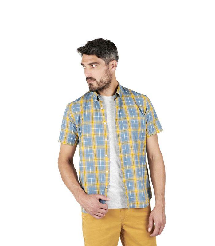 Geruit hemd met korte mouwen COSTAL image number 2