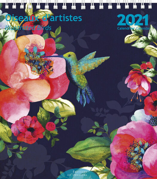 Kalender 14x16 cm Oiseaux d'Artistes,