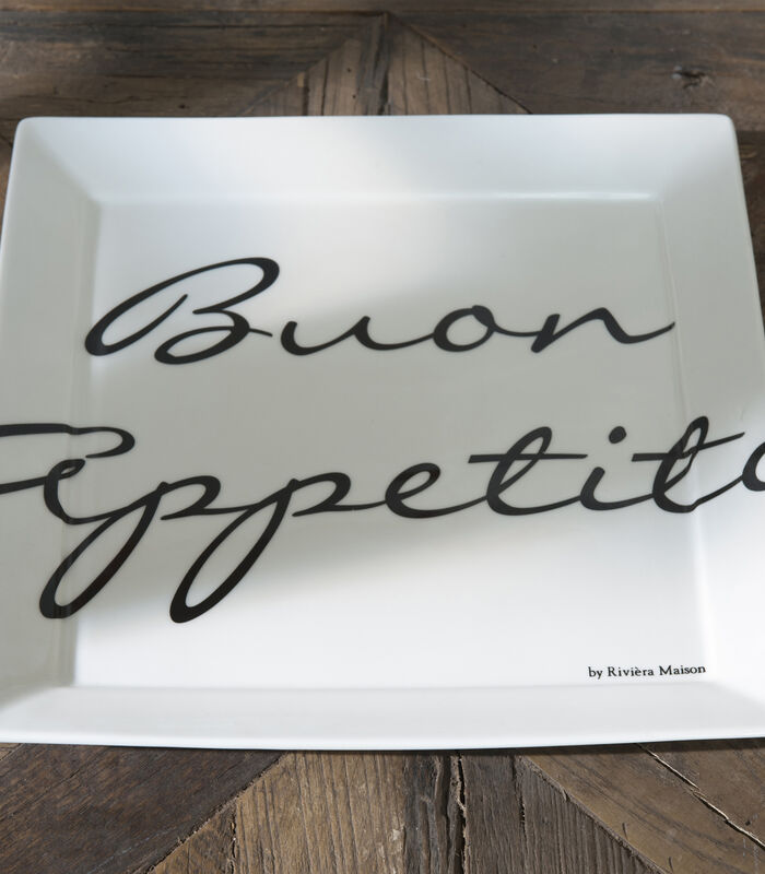 Buon Appetito Square Plate 26x26 image number 1