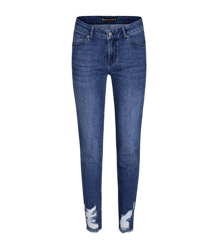 Jeans slim denim brut troué et franges CRUSH image number 0