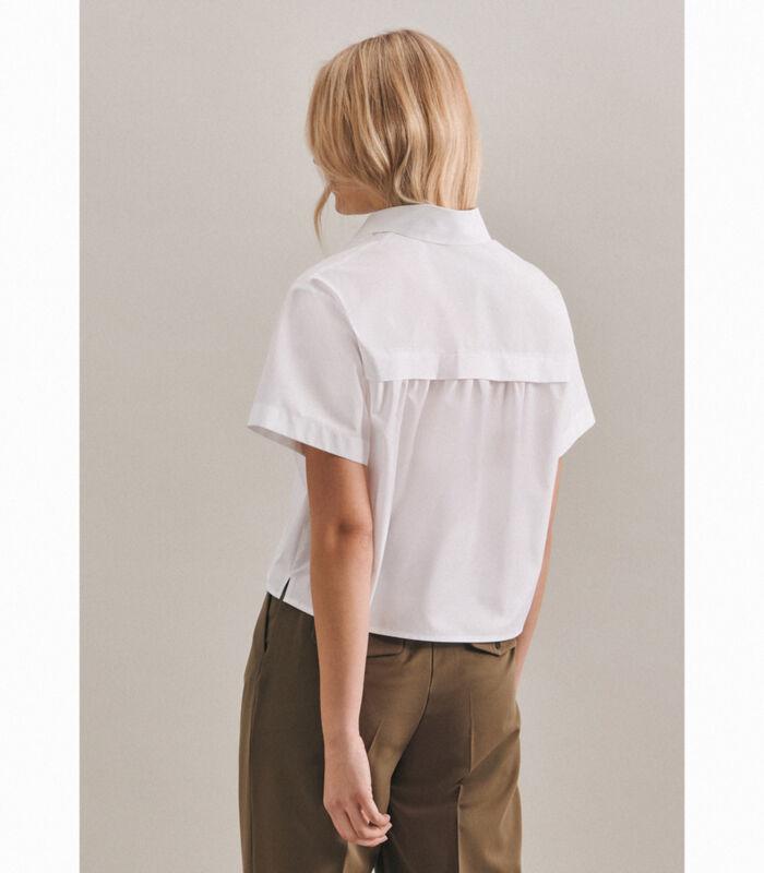 Shirtblouse Uni Korte mouwen Kraag image number 1