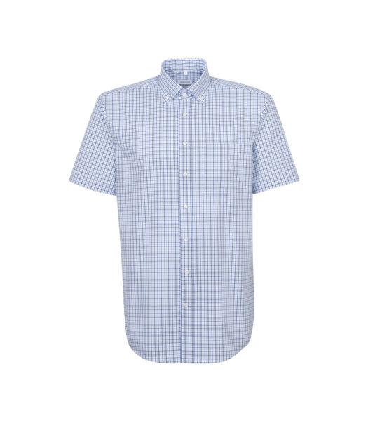 Overhemd Regular Fit Korte mouwen Geruit