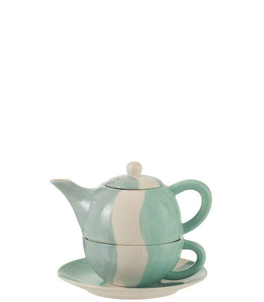 Tea For One Golf Porselein Wit/Blauw