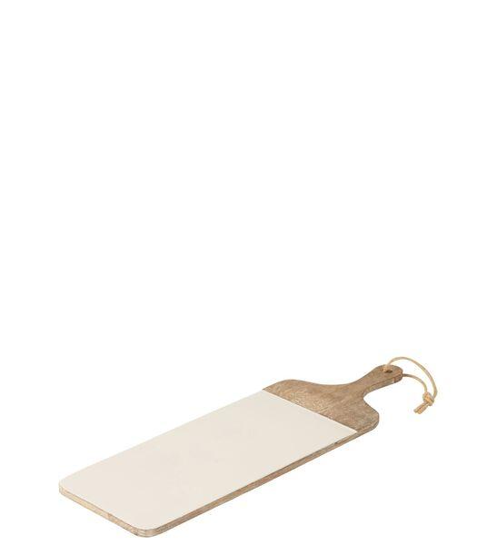 Plank Rechthoek Mango Hout Whitewash