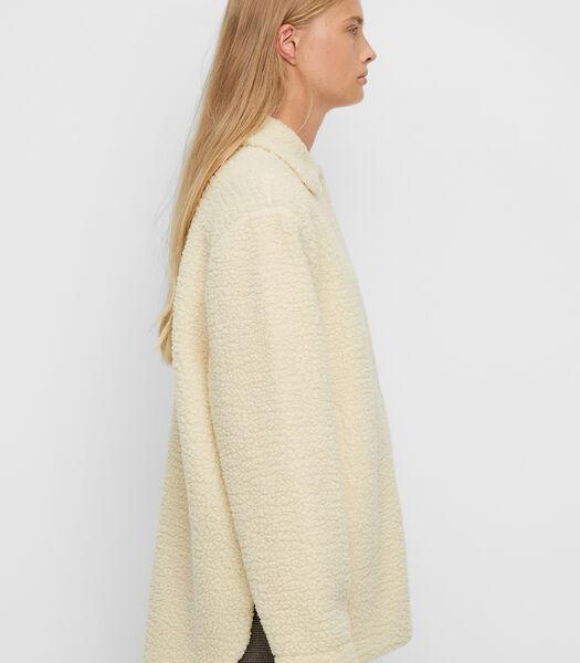 Veste-chemise molletonnée en peluche douillette