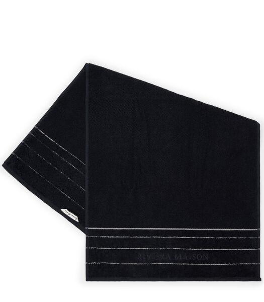 Serviette de bain RM Elegant noir 100x50