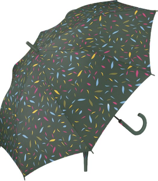 "Paraplu Lang Ac Dame groen bedrukt ""Little leaves """