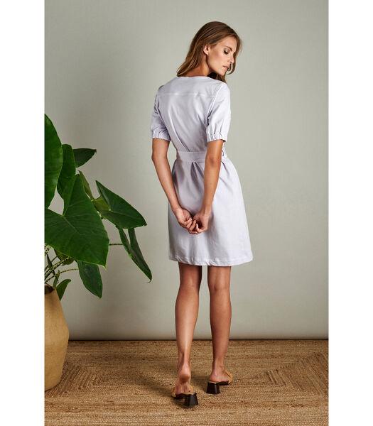 Lila jurkje in een denim kwaliteit