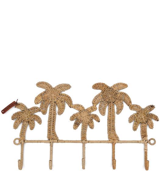 Rustic Rattan Pretty Palm Coat Rack