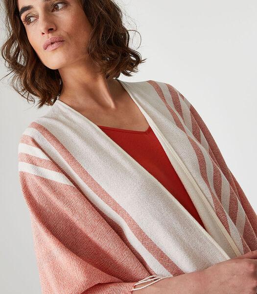 Poncho court homewear Coton Acrylique Polyester