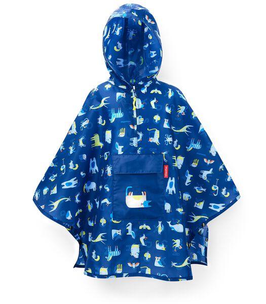 Mini Maxi Poncho M Kids - Regenponcho - ABC Blauw