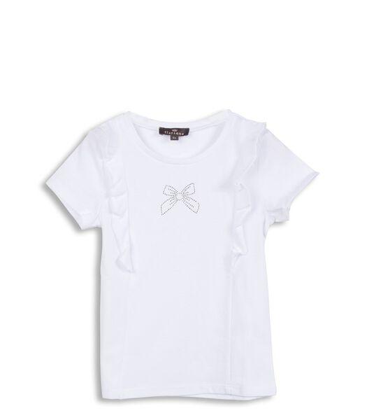 T-shirt met ruches