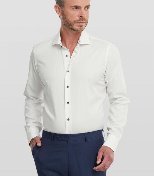 Twill overhemd met strijkvrije finish
